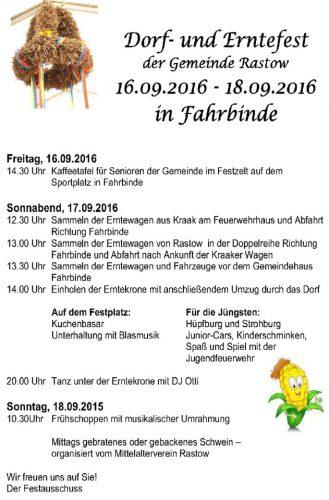 Erntefest 2016